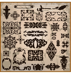 Ornamental pattern with brown border vector