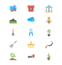 Park or garden flat icons vector