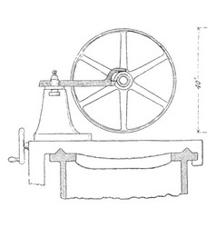 Pulley cutting tool vintage vector