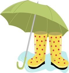 Rain clothes vector