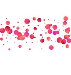 Red confetti background vector