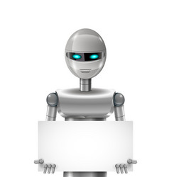 Robot with banner vector