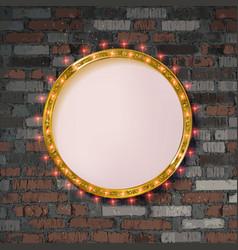Round frame with light bulbs vector