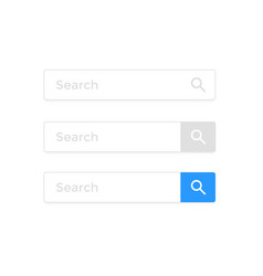 search bar web page internet browser element vector image