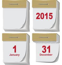 Set tear-off calendar vector