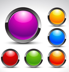 Shiny web buttons set vector