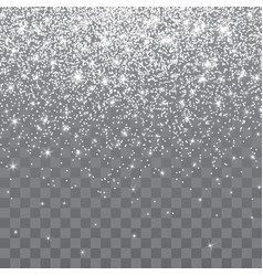 silver glitter sparkle on a transparent vector image