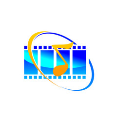 sound video service production vector image