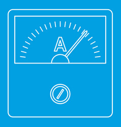 speedometer icon outline style vector image