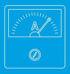 Speedometer icon outline style vector