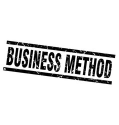 Square grunge black business method stamp vector