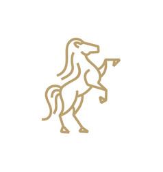 standing horse monoline logo icon vector image