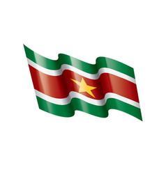 suriname flag on a white vector image