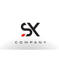 sx logo letter design vector image vector image