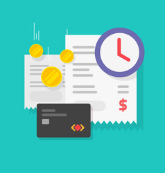Tax payment time reminder or bill money vector