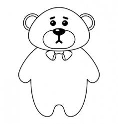 teddy bear a tilde contours vector image