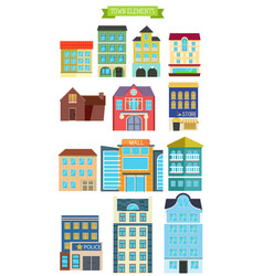 Town elements vector