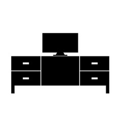 tv table icon vector image