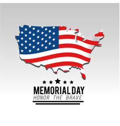 Usa map and flag to memorial day vector