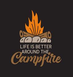 Vintage camping adventure badge vector