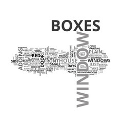 where did the window boxes go text word cloud vector image