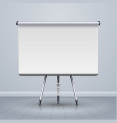 whiteboard projector presentation screen vector image