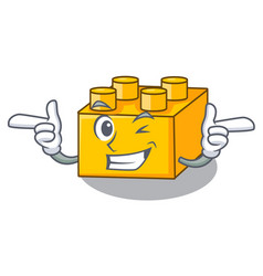 Wink plastic shaped toy on constructi character vector