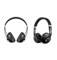 Wireless headphones set vector