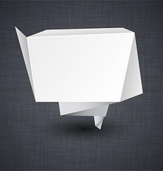 Announcement paper origami label vector image