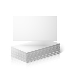Blank business cards template isolated on vector image