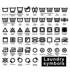 Icon set of laundry symbols vector image vector image