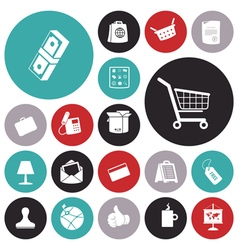 icons for business and commerce vector image vector image