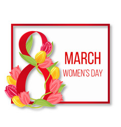 international happy womans day frame women 8 vector image vector image