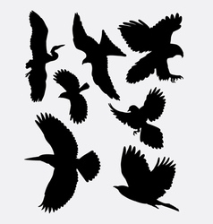 Bird flying animal silhouette 1 vector image vector image