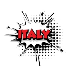 Comic text Italy sound effects pop art vector image vector image