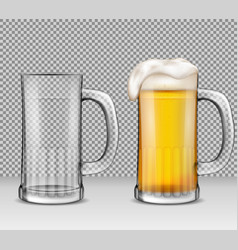 realistic of two transparent vector image vector image