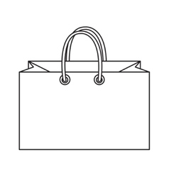 Shopping bag icon doodle line style Colorful vector image vector image