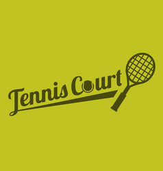 Typography tennis court vector