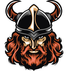 Viking warrior head vector