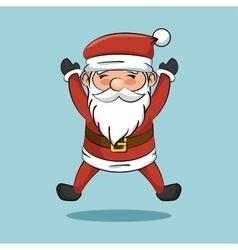 cartoon cheerful santa claus icon vector image vector image