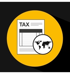 global business taxes concept icon vector image