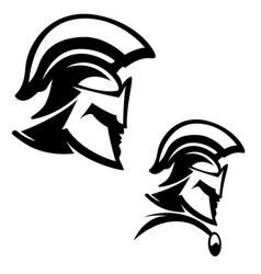 spartan warrior isolated on white background vector image