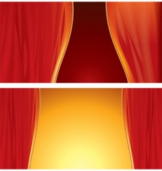 stage curtain vector image vector image
