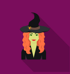Witch icon in flate style isolated on white vector