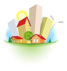 abstract cartoon city vector image