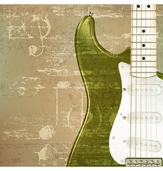 abstract green sound grunge background with vector image vector image