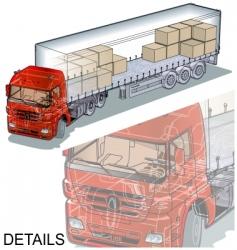 cargo semi truck vector image