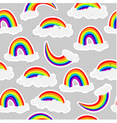 cute rainbow seamless pattern sweet rainbow and vector image
