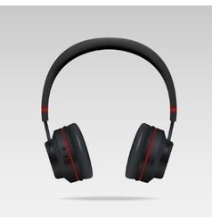 Realistic Black Headphones vector image vector image