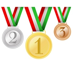 set of medals vector image vector image
